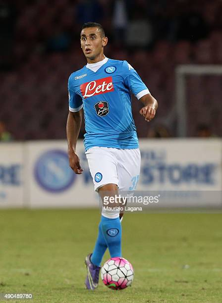 Faouzi Ghoulam of Napoli during the Serie A match between SSC Napoli and Juventus FC at Stadio San Paolo on September 26 2015 in Naples Italy