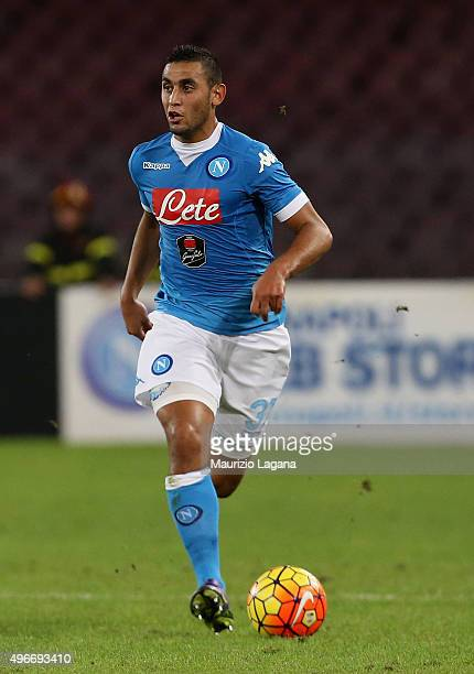 Faouzi Ghoulam of Napoli during the Serie A match between SSC Napoli and Udinese Calcio at Stadio San Paolo on November 8 2015 in Naples Italy