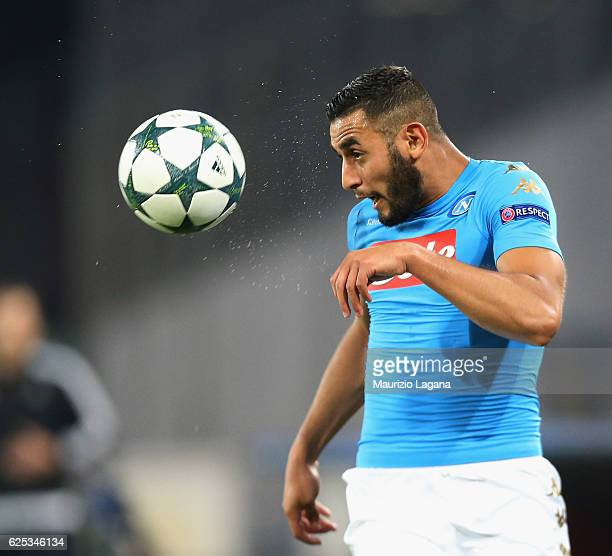 Faouzi Ghoulam of Napoli during the UEFA Champions League match between SSC Napoli and FC Dynamo Kyiv at Stadio San Paolo on November 23 2016 in...