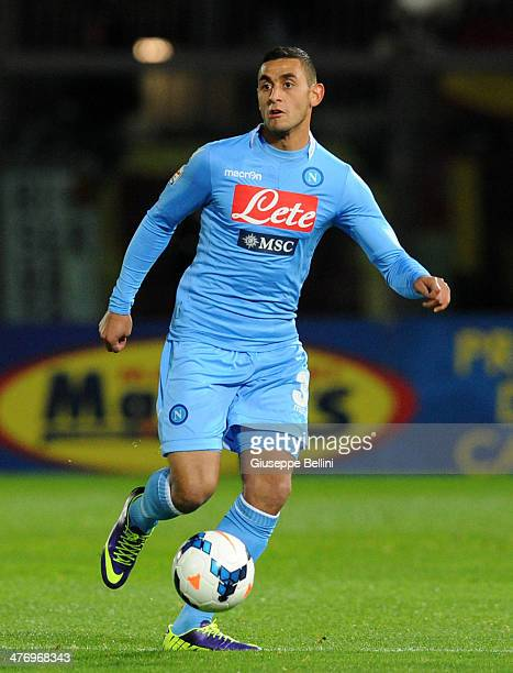 Faouzi Ghoulam of Napoli in action during the Serie A match between AS Livorno Calcio and SSC Napoli at Stadio Armando Picchi on March 2 2014 in...