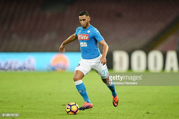 Faouzi Ghoulam of Napoli in action during the Serie A match between SSC Napoli and Empoli FC at Stadio San Paolo on October 26 2016 in Naples Italy