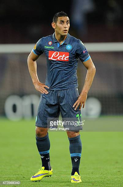 Faouzi Ghoulam of Napoli in action during the UEFA Europa League Semi Final between SSC Napoli and FC Dnipro Dnipropetrovsk on May 7 2015 in Naples...
