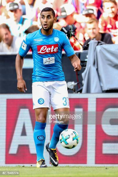 Faouzi Ghoulam of Neapel controls the ball during the Audi Cup 2017 match between SSC Napoli and FC Bayern Muenchen at Allianz Arena on August 2 2017...