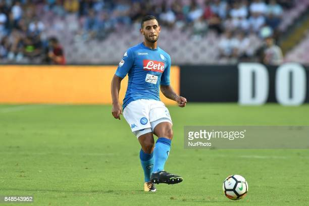 Faouzi Ghoulam of SSC Napoli during the Serie A TIM match between SSC Napoli and Benevento Calcio at Stadio San Paolo Naples Italy on 17 September...