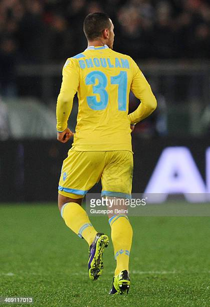 Faouzi Ghoulam of SSC Napoli during the TIM Cup match between AS Roma and SSC Napoli at Olimpico Stadium on February 5 2014 in Rome Italy