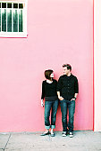 Far Away Shot of an Urban Couple