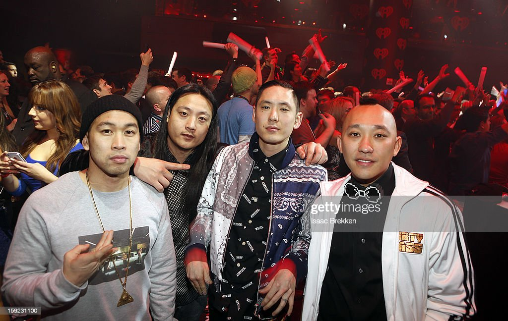 <a gi-track='captionPersonalityLinkClicked' href=/galleries/search?phrase=Far+East+Movement&family=editorial&specificpeople=4292594 ng-click='$event.stopPropagation()'>Far East Movement</a> attends the iHeartRadio CES exclusive party featuring a live performance by Ke$ha at Haze Nightclub at the Aria Resort & Casino at CityCenter on January 9, 2013 in Las Vegas, Nevada
