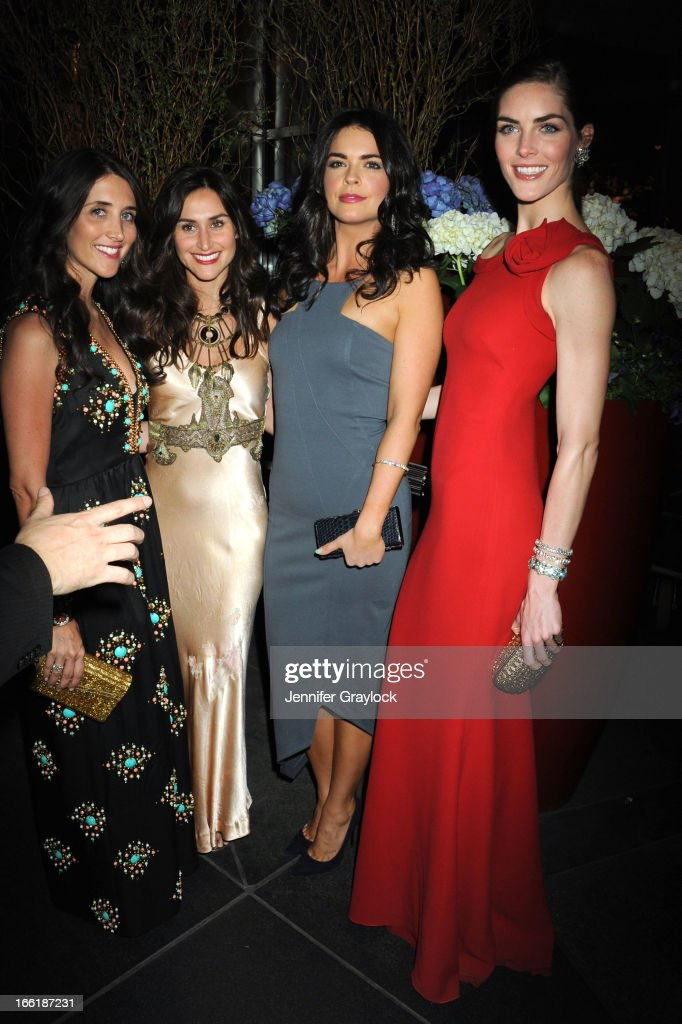 Far Right Katie Lee and Hilary Rhoda attend the New Yorkers for Children 10th Anniversary Spring Dinner Dance New Year's in April: A Fool's Fete to benefit youth in foster care presented by Valentino at Mandarin Oriental Hotel on April 9, 2013 in New York City.