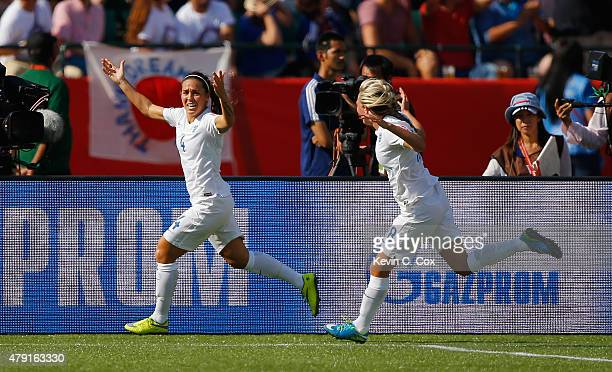 Fara Williams of England celebrates scoring a penalty to make it 11 during the FIFA Women's World Cup Semi Final match between Japan and England at...