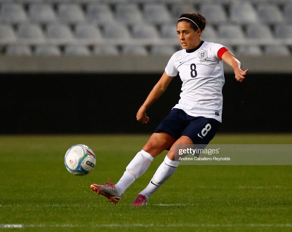 Fara Williams of England in action during the Cyprus cup final between England an France at GSP stadium on March 12, 2014 in Nicosia, Cyprus.