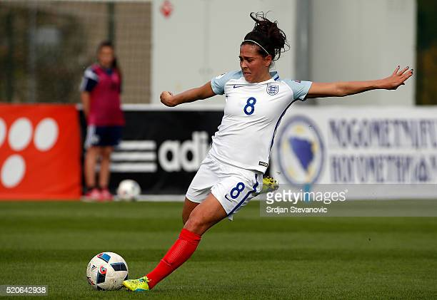 Fara Williams of England in action during the UEFA Women's European Championship Qualifier match between Bosnia and Herzegovina and England at FF BIH...
