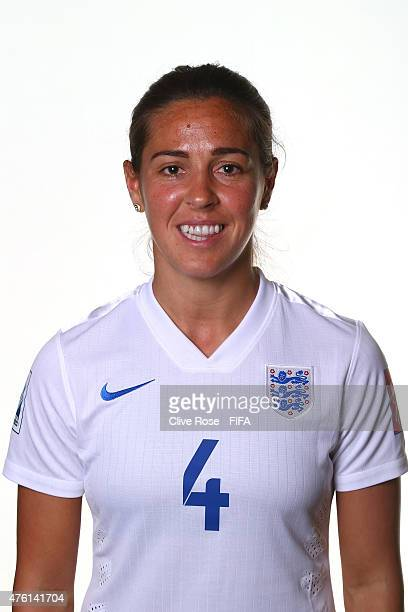 Fara Williams of England poses during a FIFA Women's World Cup portrait session on June 6 2015 in Moncton Canada
