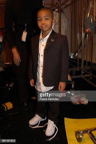 Faraad attends Child Magazine Fashion Show at The Atelier Tent at Bryant Park on February 7 2005 in New York City