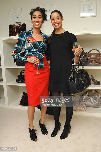 Farah Ahmed and Elizabeth Scott attend VALENTINO and VOGUE host a holiday Fete Supported by the American Museum of Natural History at Valentino...