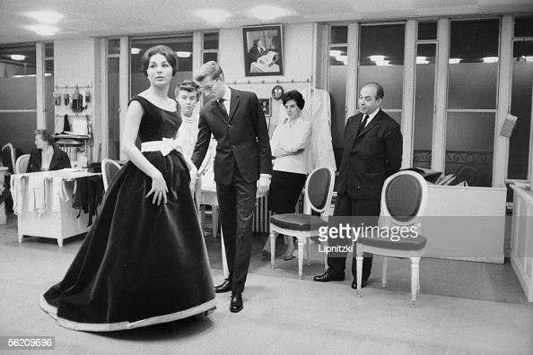Farah Dibah Iranian empress and Yves Saint Laurent Paris November 1959