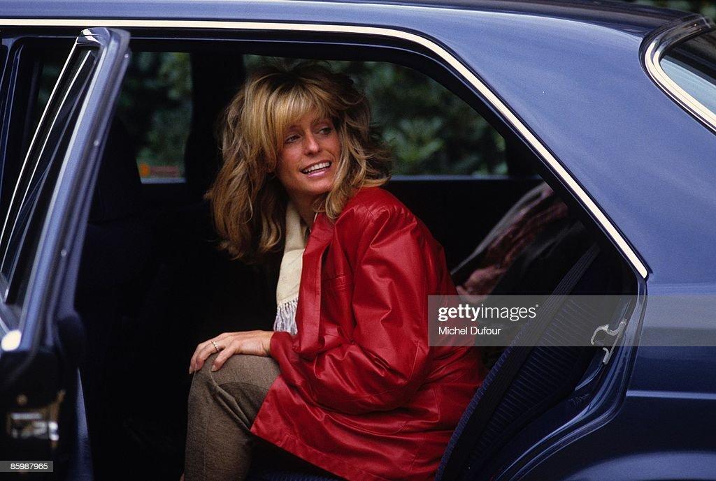DEAUVILLE FRANCE SEPTEMBER 1984 Farah Fawcett while the American Film Festival of Deauville on September 4 1984 in Paris France