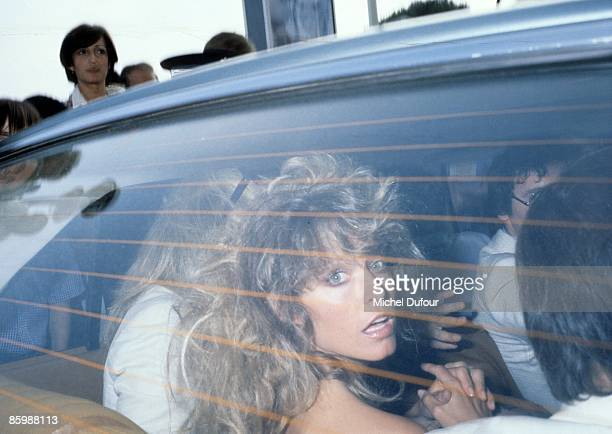 DEAUVILLE FRANCE SEPTEMBER 1984 Farah Fawcett while the American Film Festival of Deauville on September 4th 1984 in Paris France
