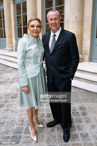 SAI Farah Pahlavi and Director Robert Wilson attend the Presentation of the new Van Cleef Arpels Collection 'L'Arche de Noe racontee par Van Cleef...