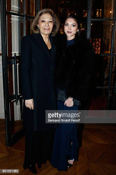 HIH Farah Pahlavi and her granddaughter Noor Pahlavi attend Stephane Bern's Foundation for 'L'Histoire et le Patrimoine Institut de France' delivers...