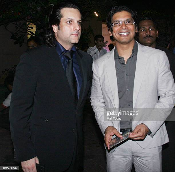 Fardeen Khan and Shaan at DY Patil Annual Achiever's Awards 2011 at the Taj Lands End in Mumbai