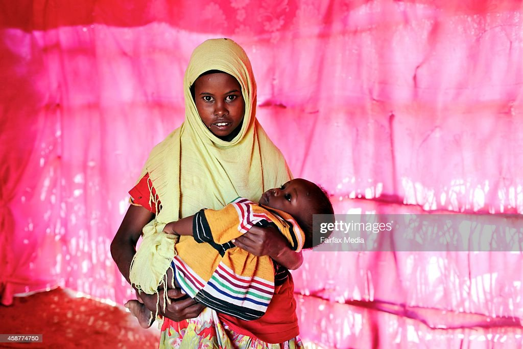 Fardosa Mohamed Salat lives with her baby daughter at the Dadaab refugee camp in Kenya July 16 2014 At 12 years of age Salat married an elderly man...
