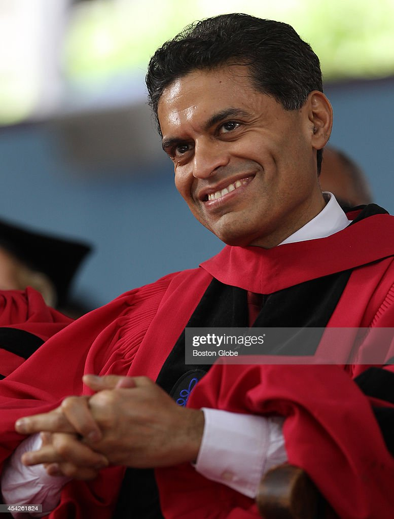 Fareed Zakaria, who will be delivering a speech, received a honorary degree at Harvard University commencement exercises.