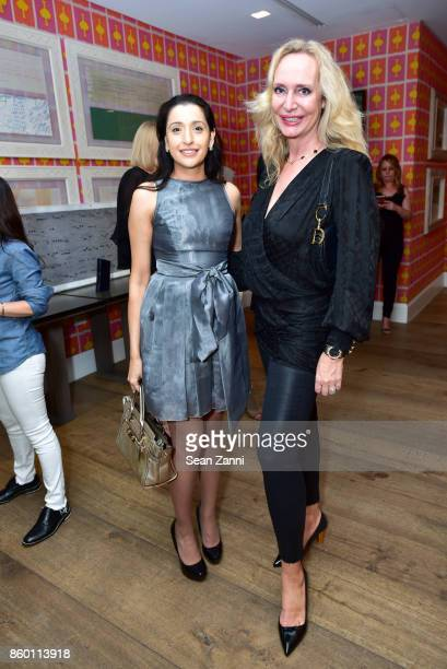 Fareen Butt and MarieClaire Gladstone attend the launch of The Collector Geneva's Sophie Bonvin Code Collection in Collaboration with artist Bill...