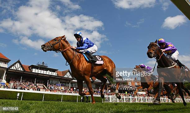 Fareer ridden by Richard Hills wins the Boodles Diamond Eternity Handicap Stakes at Chester Racecourse on May 7 2009 in Chester England