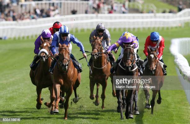 Fareer ridden by Richard Hills wins the Boodles Diamond Eternity Handicap during the Boodles Ladies Day at Chester Racecourse