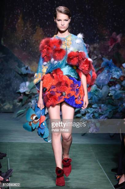 Faretta walks the runway during the Fendi Haute Couture Fall/Winter 20172018 show as part of Haute Couture Paris Fashion Week on July 5 2017 in Paris...