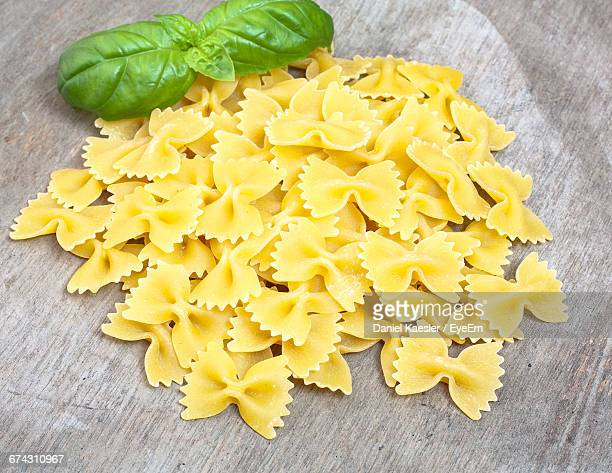 Farfalle Pasta With Basil Leaf