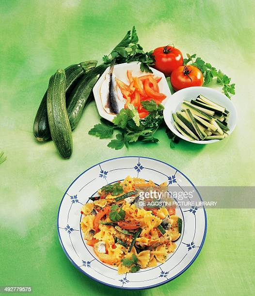 Farfalle with sardines and zucchini