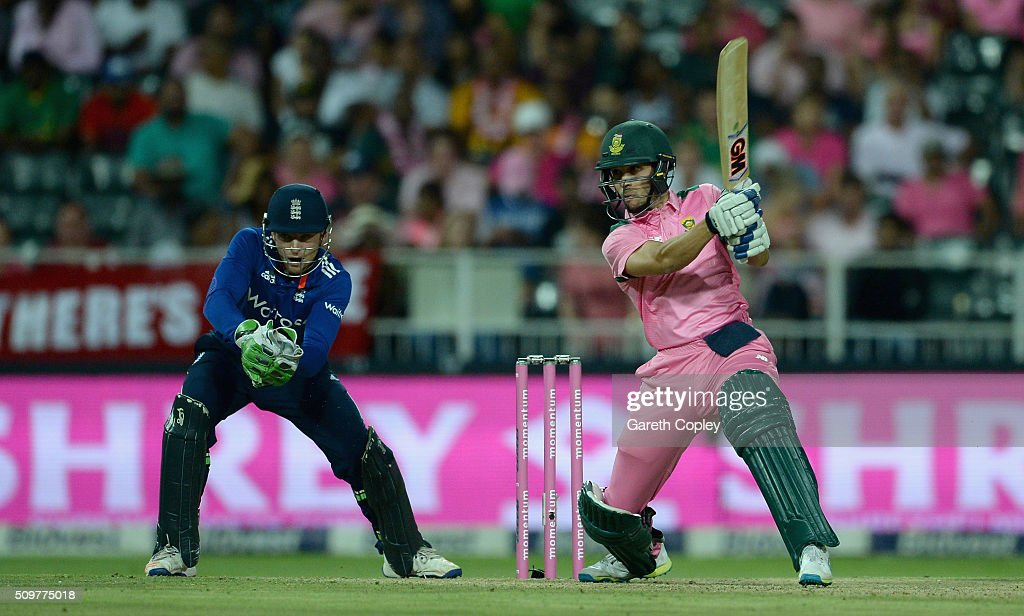Farhaan Behardien of South Africa bats during the 4th Momentum ODI between South Africa and England at Bidvest Wanderers Stadium on February 12, 2016 in Johannesburg, South Africa.