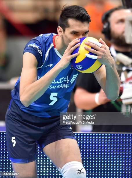Farhad Ghaemi during the FIVB World League 2017 match between Iran and USA at Arena Spodek on June 15 2017 in Katowice Poland