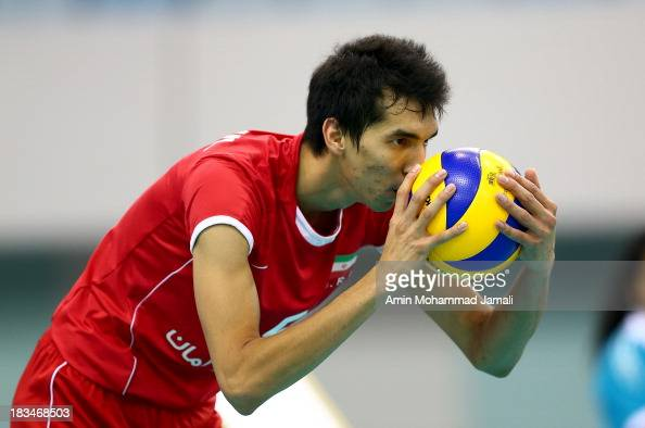 Farhad Ghaemi of Iran during 17th Asian Men's Volleyball Championship between Iran And Japan on October 5 2013 in Dubai United Arab Emirates