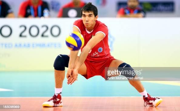 Farhad Ghaemim of Iran during 17th Asian Men's Volleyball Championship between Iran And Lebanon on October 4 2013 in Dubai United Arab Emirates