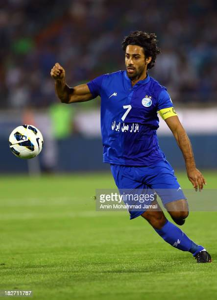 Farhad Majidi of Esteghlal in action during the AFC Champions League Semi Final match between Esteghlal and FC Seoul at Azadi Stadium on October 2...