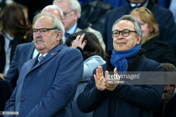 Farhad Moshiri Everton owner is seen prior to the Premier League match between Everton and Watford at Goodison Park on November 5 2017 in Liverpool...