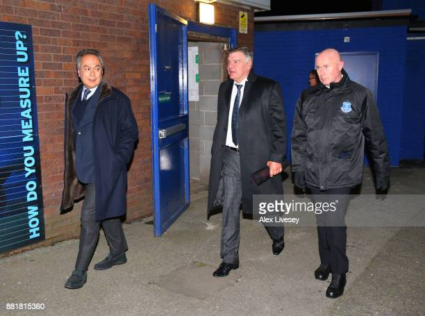 Farhad Moshiri owner of Everton and Sam Allardyce are seen arriving at the stadium together prior to the Premier League match between Everton and...