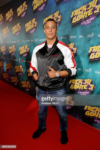 Farid Bang attends the 'Fack ju Goehte 3' premiere at Mathaeser Filmpalast on October 22 2017 in Munich Germany