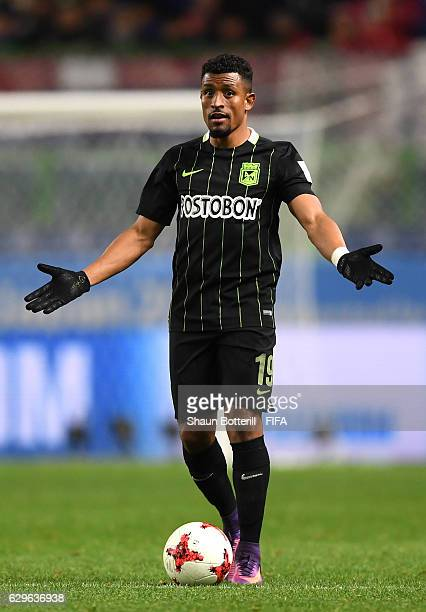 Farid Diaz of Atletico Nacional in action during the FIFA Club World Cup Semi Final match between Atletico Nacional and Kashima Antlers at Suita City...