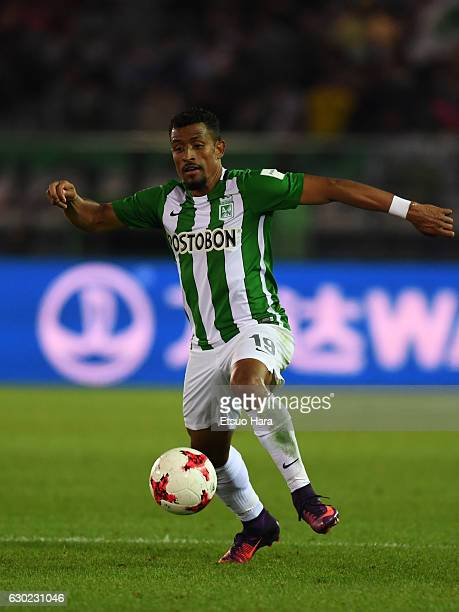 Farid Diaz of Atletico Nacional in action during the FIFA Club World Cup 3rd place match between Club America and Atletico National at International...