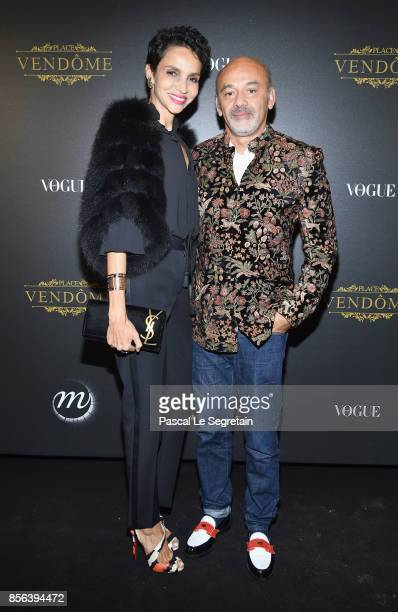 L s magazines stock photos and pictures getty images farida khelfa and christian louboutin attend the irving penn exhibition private viewing hosted by vogue as sciox Images