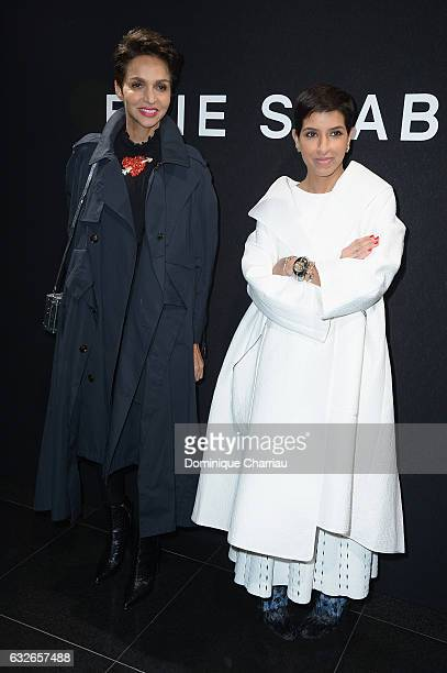 Farida Khelfa and Deena Aljuhani Abdulaziz attend the Elie Saab Haute Couture Spring Summer 2017 show as part of Paris Fashion Week on January 25...