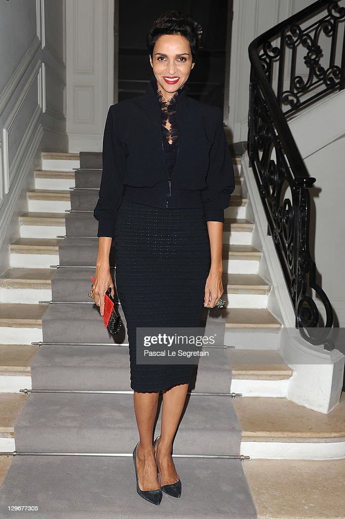 Farida Khelfa attends a dinner at Dior fashion house on October 19 2011 in Paris France