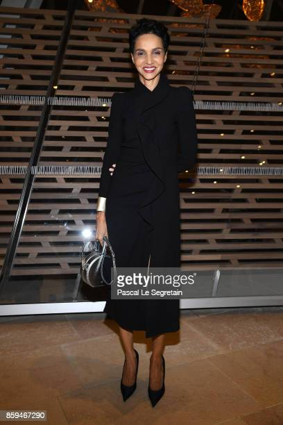 Farida Khelfa attends 'Etre Moderne Le MoMA A Paris' Exhibition at Fondation Louis Vuitton on October 9 2017 in Paris France