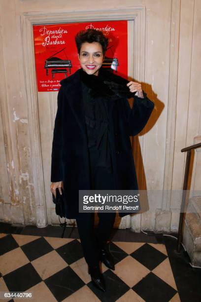 Farida Khelfa attends Gerard Depardieu sings Barbara accompanied on the piano of Barbara by Gerard Daguere who was his Pianist for more than 15 years...