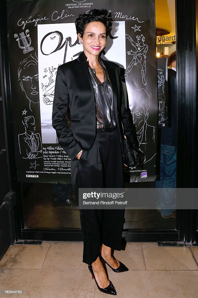 Farida Khelfa attends 'Opium' movie Premiere held at Cinema Saint Germain in Paris on September 27 2013 in Paris France