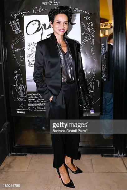 Farida Khelfa attends 'Opium' movie Premiere held at Cinema Saint Germain in Paris on September 27 2013 in Paris France