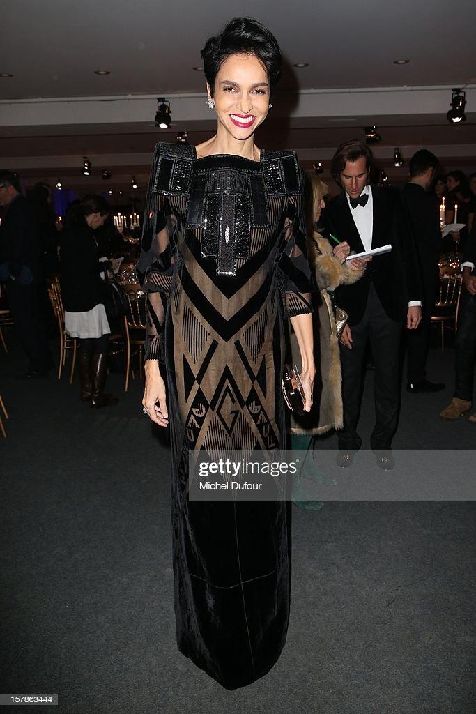 Farida Khelfa attends the Babeth Djian Hosts Dinner For Rwanda To The Benefit Of A.E.M. on December 6, 2012 in Paris, France.